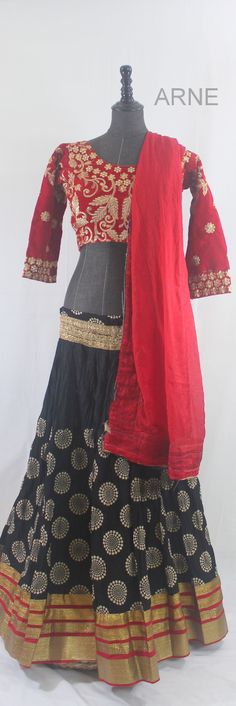 Another Favorite! Black Red Heavy Flared  http://www.arneus.com/lehenga/black-red-heavy-flared