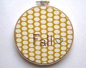 Fall Embroidery - Hoop Art - 5 in via http://www.etsy.com/shop/TheGreenPiano