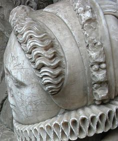 By Martin Beek no date awesome french hood closeup (appears to be from an effigy)