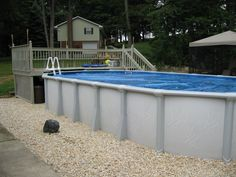 """We find most people may have some questions about closing Above Ground Pools.  It is quite simple:  Clean your pool; balance the water chemistry; add Winter Chemicals - run pump 8-12 hours; clean filter with Filter Cleaner; lower water level 2"""" below return; plug the return and skimmer; remove skimmer basket and add Gizzmo; install 1-2 air pillows in the center of the pool; put on the Winter Cover and secure tightly using the cable and winch; drain all equipment of water and store indoors."""