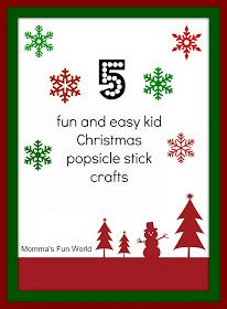 5 easy kid crafts made with popsicle sticks