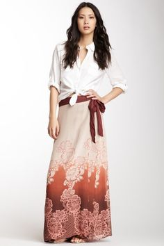Boheme Silk Woven Wrap Skirt by Da-Nang on @HauteLook