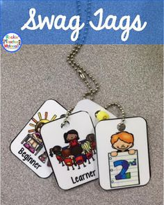 I just can't get enough of these SWAG tags! Since I've moved to 3rd grade, I love them even more. When the kids earn a tag, I put their name...