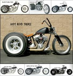 Bike Drift, Tricycle Motorcycle, Trike Chopper, Harley Davidson Trike, Custom Trikes, Motorized Bicycle, Classy Cars, Cool Motorcycles, Choppers