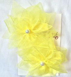 Florecitas Organza Precio $55