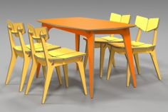 tetra dining table / plywood furniture / 3D DESIGN /  cnc router / 유창석 www.joinxstudio.com