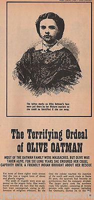 Olive Oatman & Ordeal As Indian Slave +Antonio, Burke,Heintzelman,Hewitt, Mowery