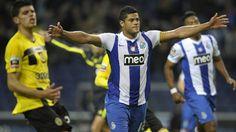 Hulk of FC Porto celebrates after scoring a goal during the Portuguese Liga match against SC Beira-Mar