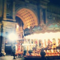 Piazza Repubblica showcases one of the most majestic carousels in all of Italy
