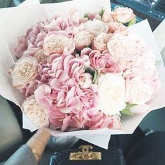 gorgeous pink and cream bouquet