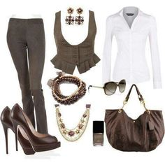 Replace the shoes & accessories with something a little more steamy and yowza! Loooove that vest!