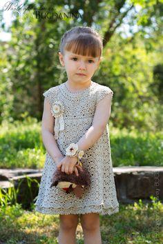 Crochet Girls, Crochet Baby Clothes, Crochet For Kids, Little Girl Dresses, Flower Girl Dresses, Toddler Outfits, Kids Outfits, Frock Patterns, Formal Dresses For Weddings