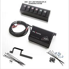 OTRATTW :: sPOD :: Jeep :: Jeep JK 2007 - 2015 :: JK 6-Switch sPOD & theSource System with Genesis Adapter :: sPOD & theSource System, 6 Double LED Switches, Jeep JK 2012 - 2015 w/ Genesis Adapter