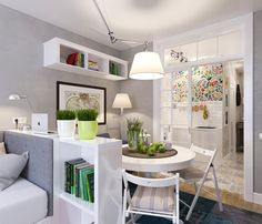 дизайн квартиры-студии 25 кв. м.
