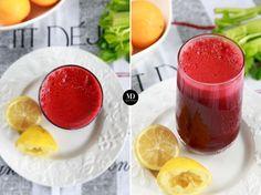 Oczyszczający sok z buraka, pomarańczy, marchewki i selera naciowego