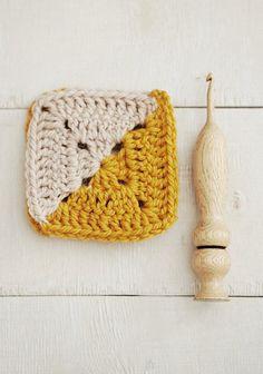 OOAK Wood Crochet Hook Size H-8 5 mm Ergonomic Wooden