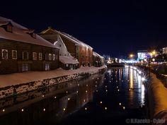 冬の小樽運河(黄昏) (Otaru Canal in winter - twilight) #Japan #Winter #Night