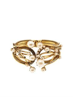 Stratosphere crystal & faux-pearl cuff   Erickson Beamon   MAT...