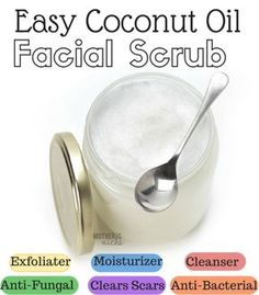 2-ingredient Coconut Oil Facial scrub. You will never go back!