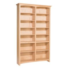 Whittier Wood McKenzie Bookcase Collection – 48″ wide, 84″ high, unfinished