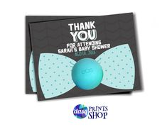 Bow Tie Baby Shower Favors For EOS Lip Balm Gifts Little Man Baby Shower  Tag   Onesie Invitation