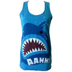 Newbreed Girl Aaah Shark Vest | Gothic Clothing | Emo clothing |... ($32) ❤ liked on Polyvore