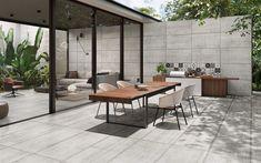 Concrete Formwork, Exposed Concrete, Concrete Tiles, Concrete Design, Tile Design, Temporary Architecture, Modern Architecture, Exterior Tiles, Flats