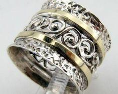 Taille de bague or jaune et Perle en argent Sterling par jewela