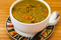 for Split Pea Soup with Ham, Bay Leaves, Epazote and Red Bell Pepper ...