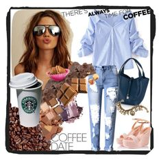 """Coffee date outfit☕"" by inna-matlo ❤ liked on Polyvore featuring WithChic, Fratelli Karida, Urban Decay, Sweet Romance and CoffeeDate"