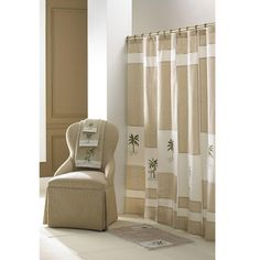 croscill tropical pattern 70x72inch fiji shower curtain by croscill