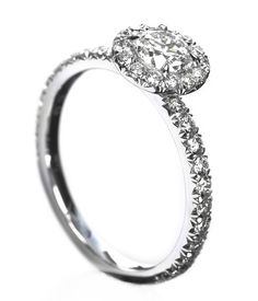 Fink's Jewelers - Fink's Meteor Cut Diamond Engagement Ring with Single Pave Shank, $8,600.00 (http://finksjewelers.com/finks-meteor-cut-diamond-engagement-ring-with-single-pave-shank/)