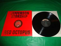 Jefferson Starship Red Octopus 1975 Music Record vintage find me at www.dandeepop.com