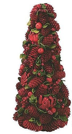 Wreaths For Door - Cranberry Festival Small Pinecone Tree Christmas Centerpiece For Table Top or..., $50.99 (http://www.wreathsfordoor.com/cranberry-festival-small-pinecone-tree-christmas-centerpiece-for-table-top-or/)