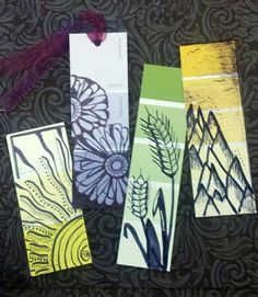 DIY bookmarks from paint swatches