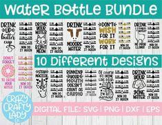 Cricut Projects Discover Water Bottle Tracker SVG Bundle Exercise Cut File Fitness Design Gym Tumbler Saying Funny Workout Quote dxf eps png Silhouette Cricut Funny Water Bottle, Water Bottle Tracker, Water Bottles, Fitness Design, Design Exterior, Circuit Projects, Vinyl Projects, Circuit Crafts, Vinyl Crafts