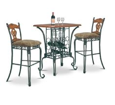 3 Piece Bar Table Set with Wine Rack Base - Bar Table and 2 Bar Chairs by The Furniture Cove, http://www.amazon.com/dp/B000NZNWV6/ref=cm_sw_r_pi_dp_0bXzrb007MFBB