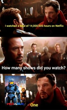 Does this go in Marvel or RvB Really Funny Memes, Stupid Memes, Funny Jokes, Hilarious, Funny Images, Funny Photos, Office Theme Song, Happy Birthday John, Star Wars Watch