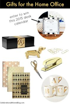 Gifts for the Home Office + Desk Calendar Giveaway — Celebrations at Home