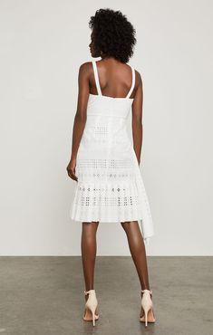 Asymmetrical Cotton Eyelet Dress