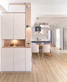 Condo Interior Design, Home Room Design, Apartment Interior, Living Room Designs, Living Room Partition Design, Room Partition Designs, Home Decor Kitchen, Kitchen Design, Condominium Interior