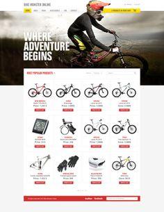 BIKE MONSTER by Tomasz Soluch, via Behance  #ecommerce