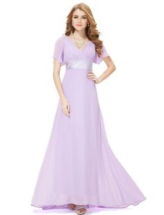 HE09890QP18, Light Purple, 16US, Ever Pretty Beach Wedding Dresses Women 09890 $89.99