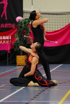 Baton Twirling for Pairs. Harriette and my at the regional championship in 2008. Even made it to the Dutch Championships ended up fourth. Miss it.