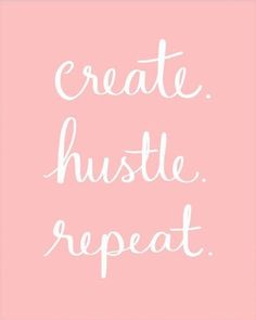 Create, Hustle, Repeat Art Print – The Bullish Store