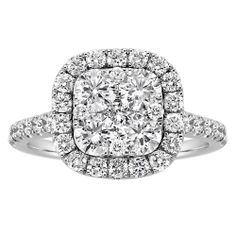 Fred Meyer Jewelers EFFY 8x6mm Emerald and Diamond Ring Rings