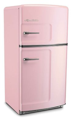 My mom asked my half asleep dad if he would paint her fridge to match her new kitchen decorating plans.  Then she left to run errands.   When he woke completely he panicked as he could not remember what color she said...all girls like pink, right?  Especially a bold peachy pink-she cried when she came home ready to work on her new YELLOW kitchen.
