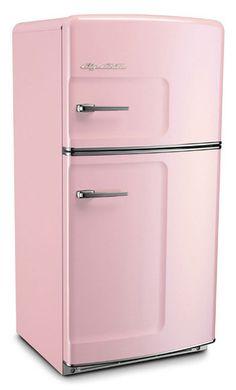 Big Chill pink retro refrigerator