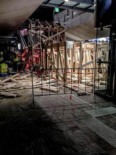 Construction at Rotterdam central station