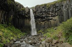 Surrounded by beautiful basalt colums
